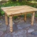 1 maple crisscross table